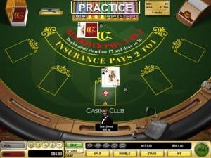 CasinoClub.com blackjack