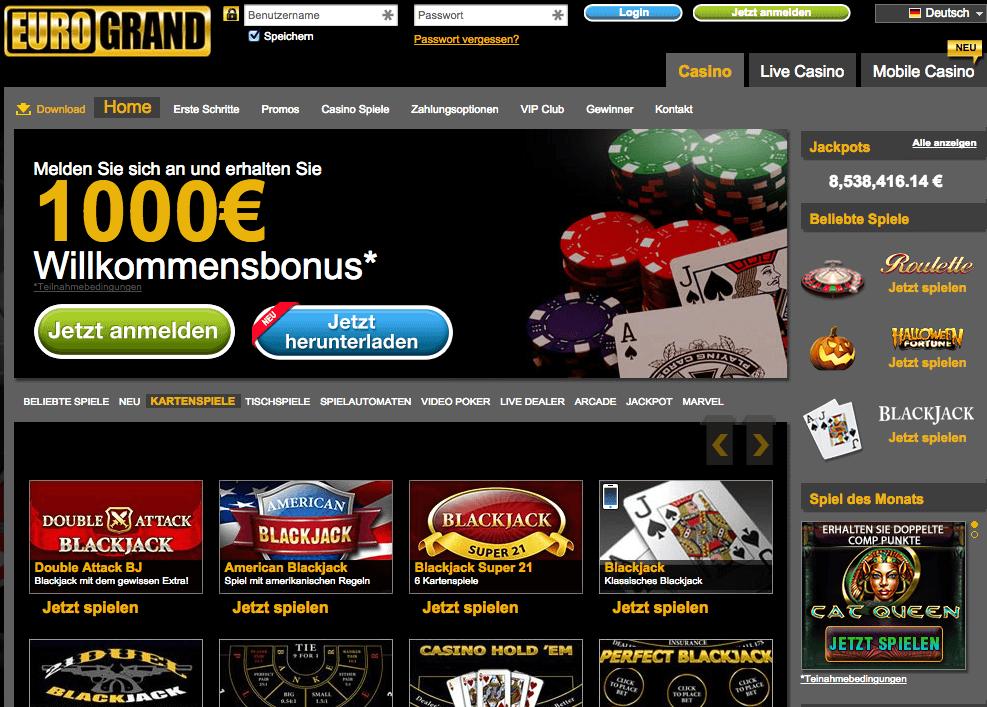 Eurogrand Casino Betrug