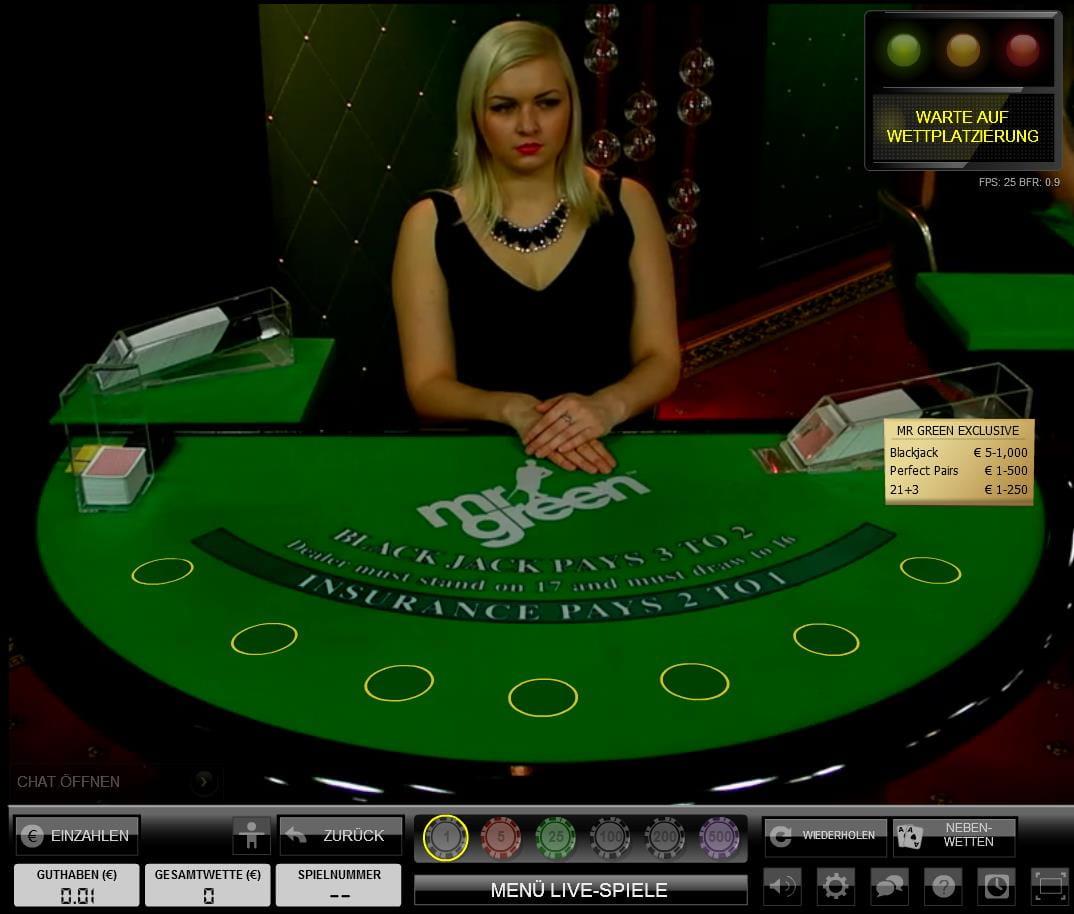 Vorteilhafter Blackjack Tisch