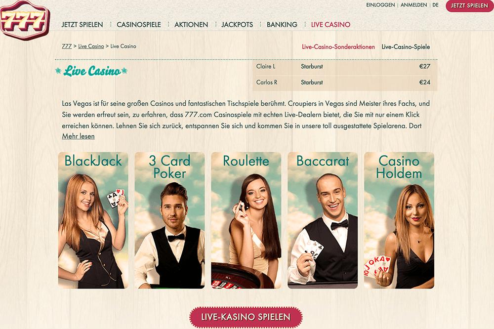 777 casino 100 gratis